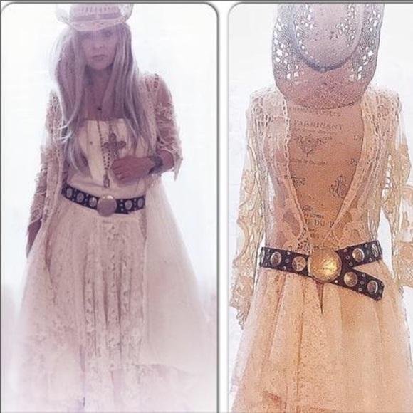 2d74c1e5de5 NEW Overalls Vintage Lace Maxi Dress Boho Chic